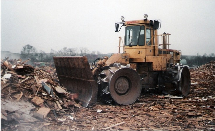 Brunssum  Cat 826 C compactor.