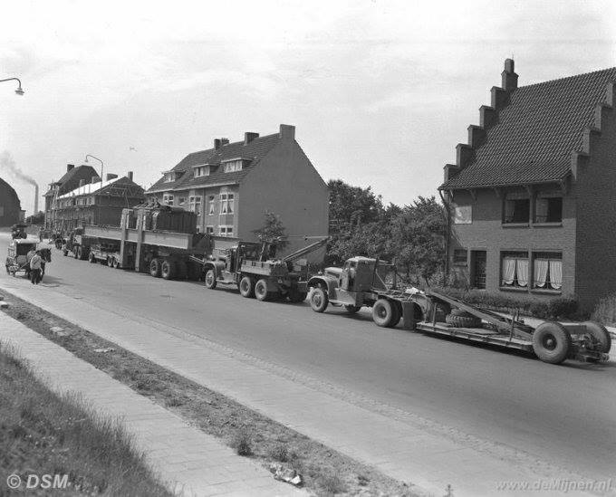 Diamond . 1953 transformator transport Nijmegen naar oranje Nassau in Geleen