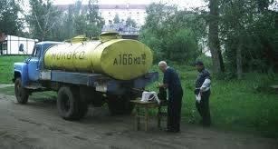 Melktransport in Rusland.