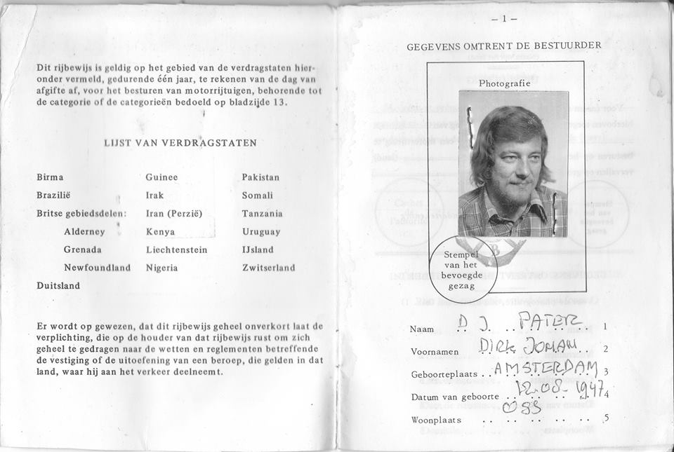 . 1974 International rijbewijs