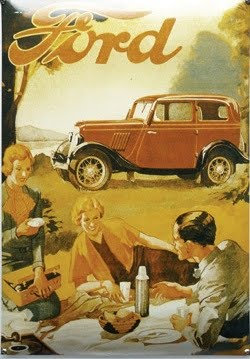 file. Nostalgisch groot ford mail reclame