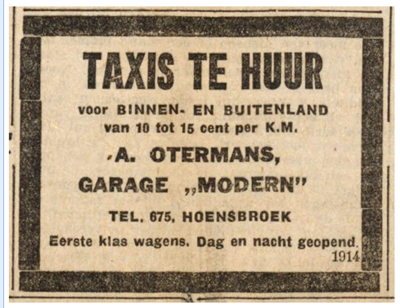 advertentie Taxi