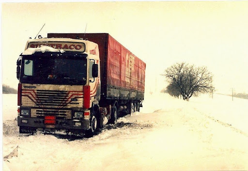Rusland met de volvo in de winter