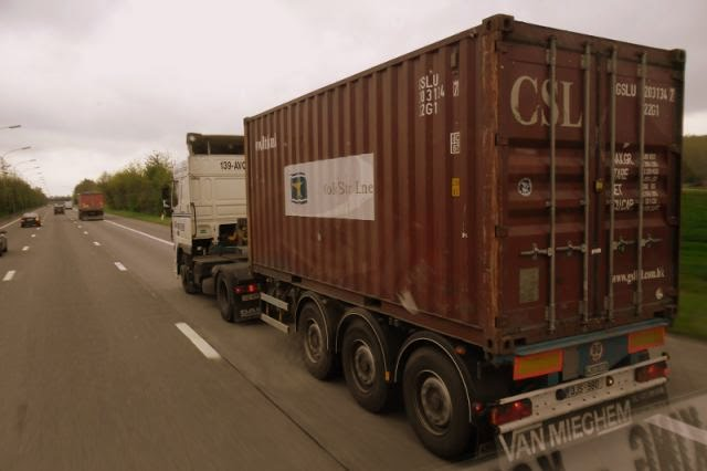 DAF XF Met container.
