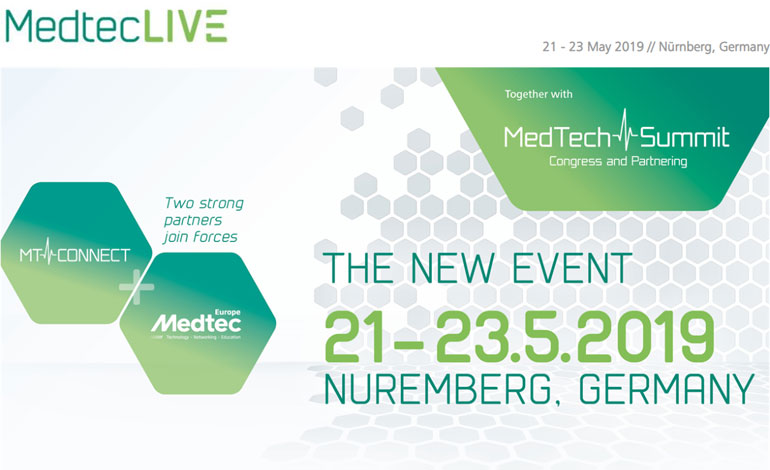 Meet us at MedtecLive 2019 in Nürnberg