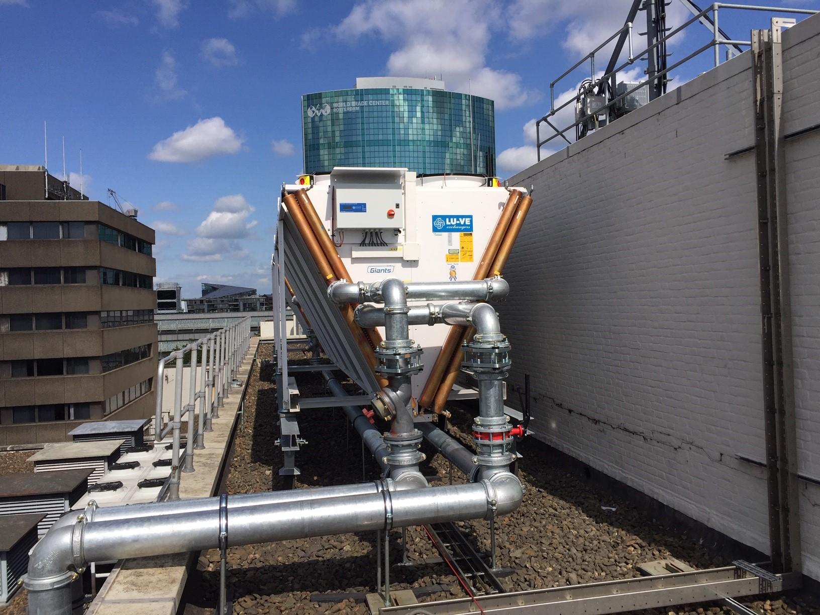 Verduurzaming installaties de bijenkorf Rotterdam
