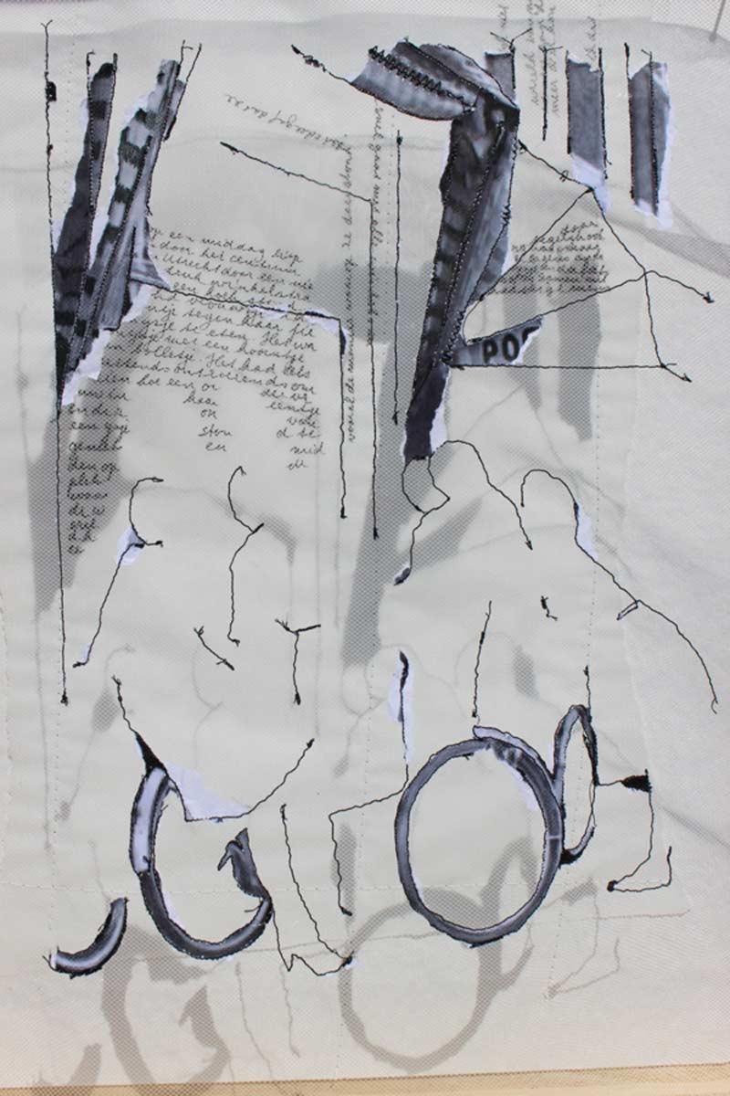 Miriam L'Herminez | herinnering AT | mixed media | 40x30