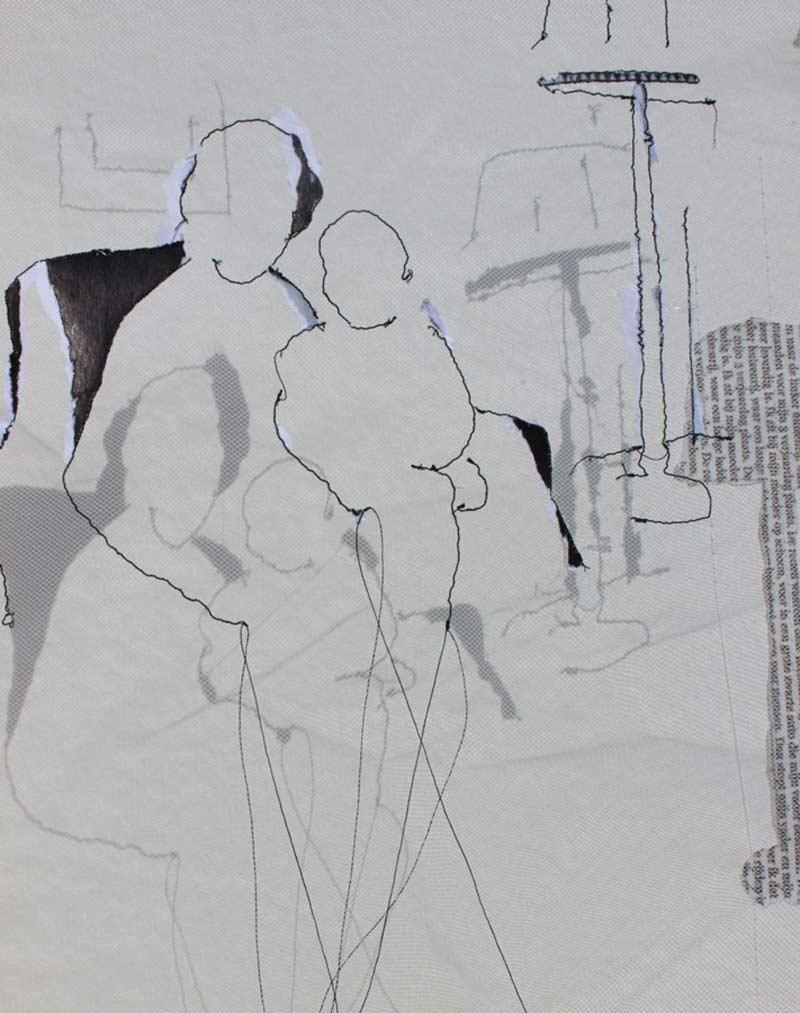 Miriam L'Herminez | herinnering FR | mixed media | 40x30