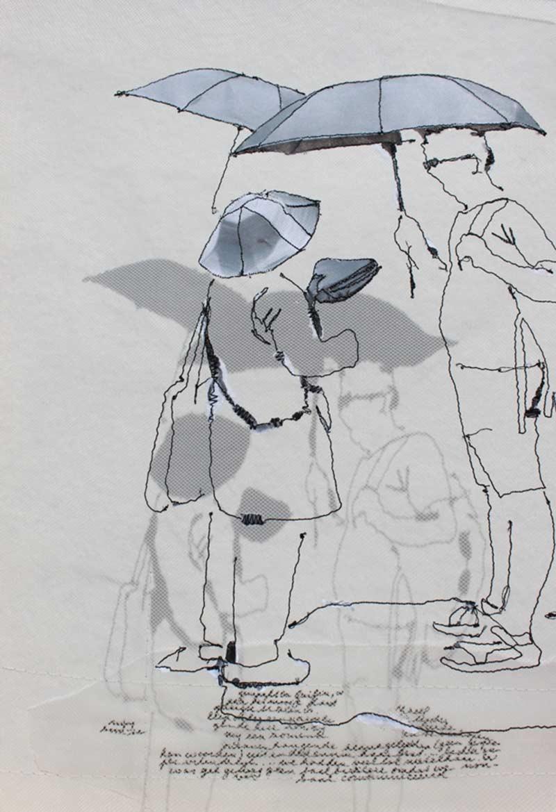 Miriam L'Herminez | herinnering  JD | mixed media | 40x30