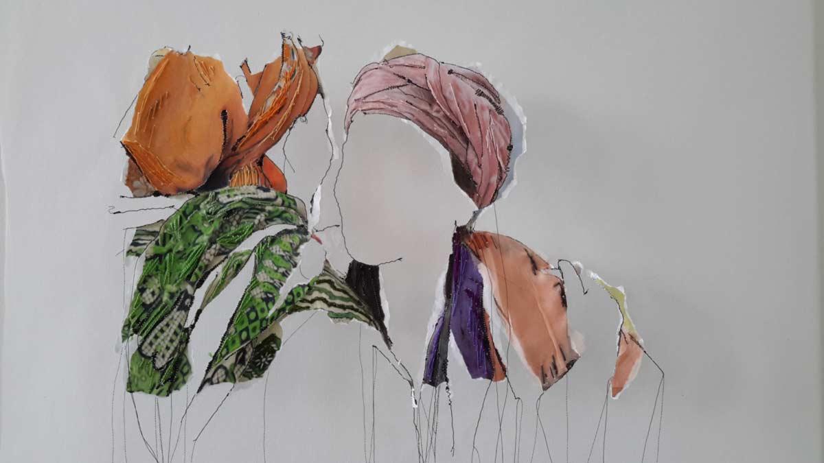 Miriam L'Herminez | twee vrouwen | mixed media | 60x80