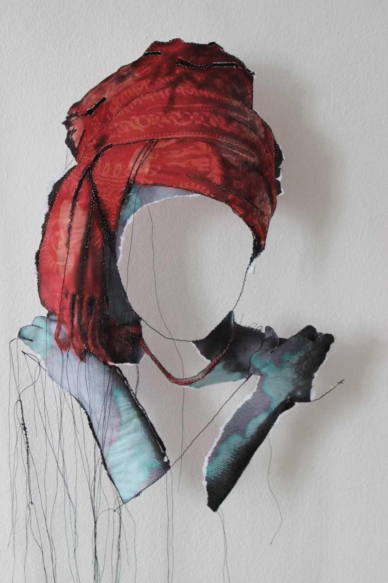 Miriam L'Herminez | diversiteit #12 | mixed media | 80x60