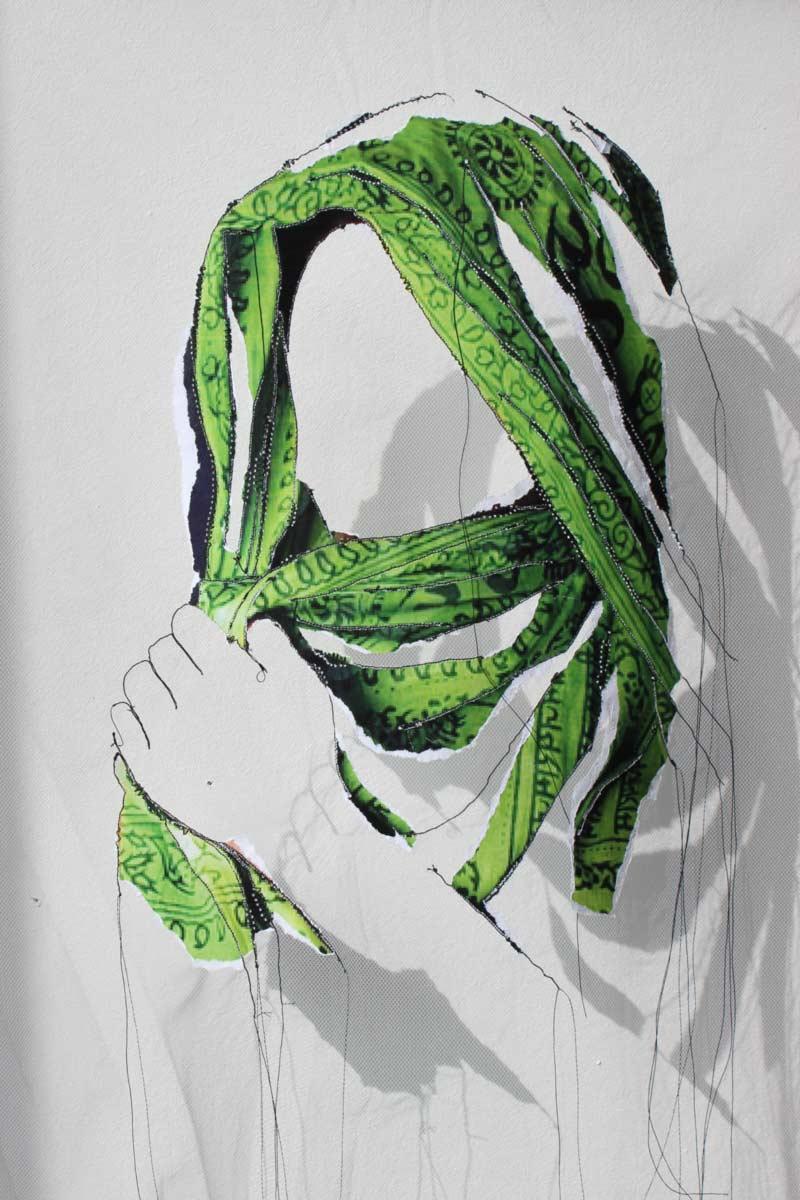 Miriam L'Herminez | diversiteit #13 | mixed media | 50x40