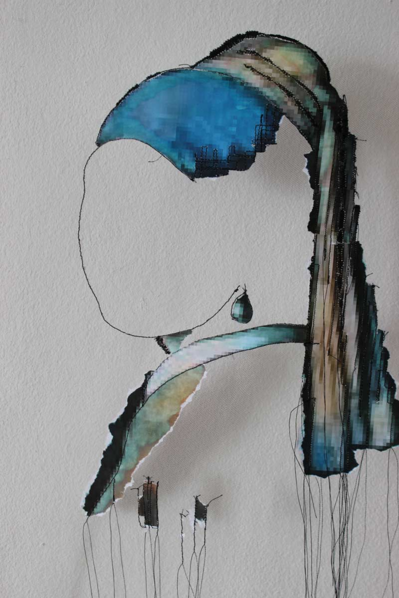 Miriam L'Herminez | parel | mixed media | 70x50