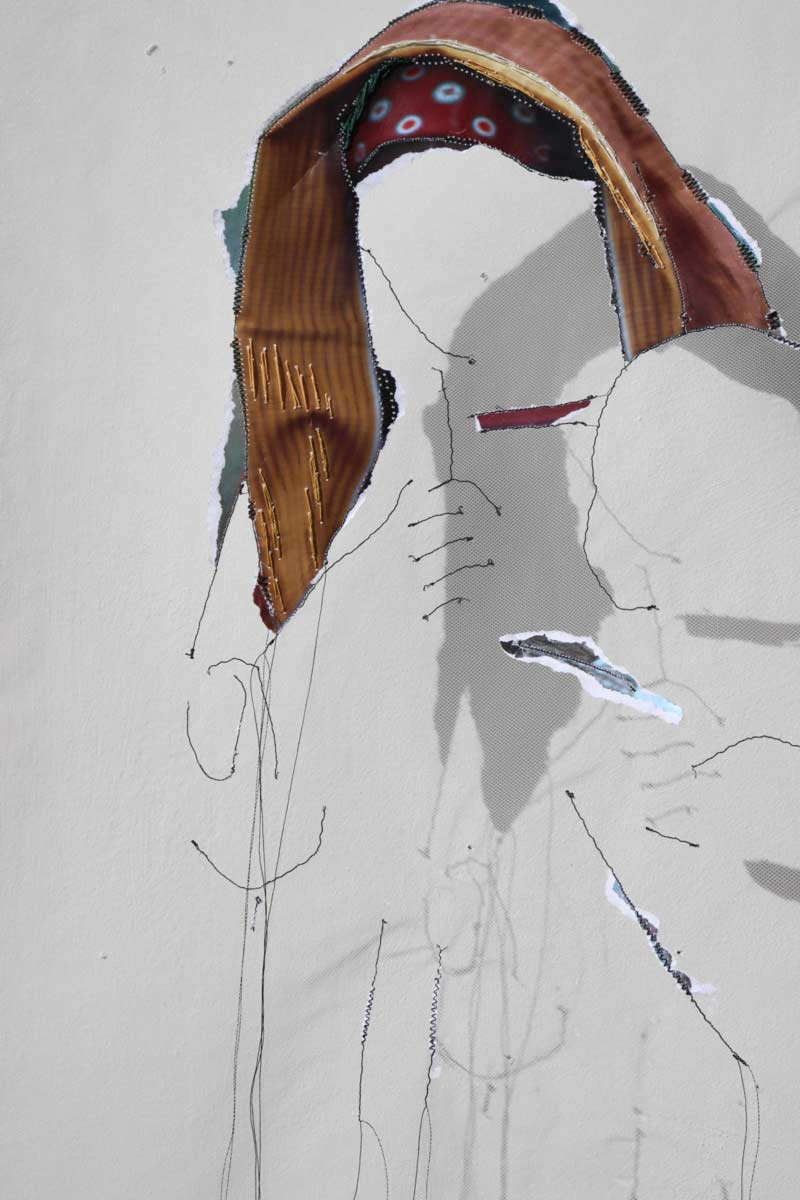 Miriam L'Herminez | diversiteit #17 | mixed media | 80x60