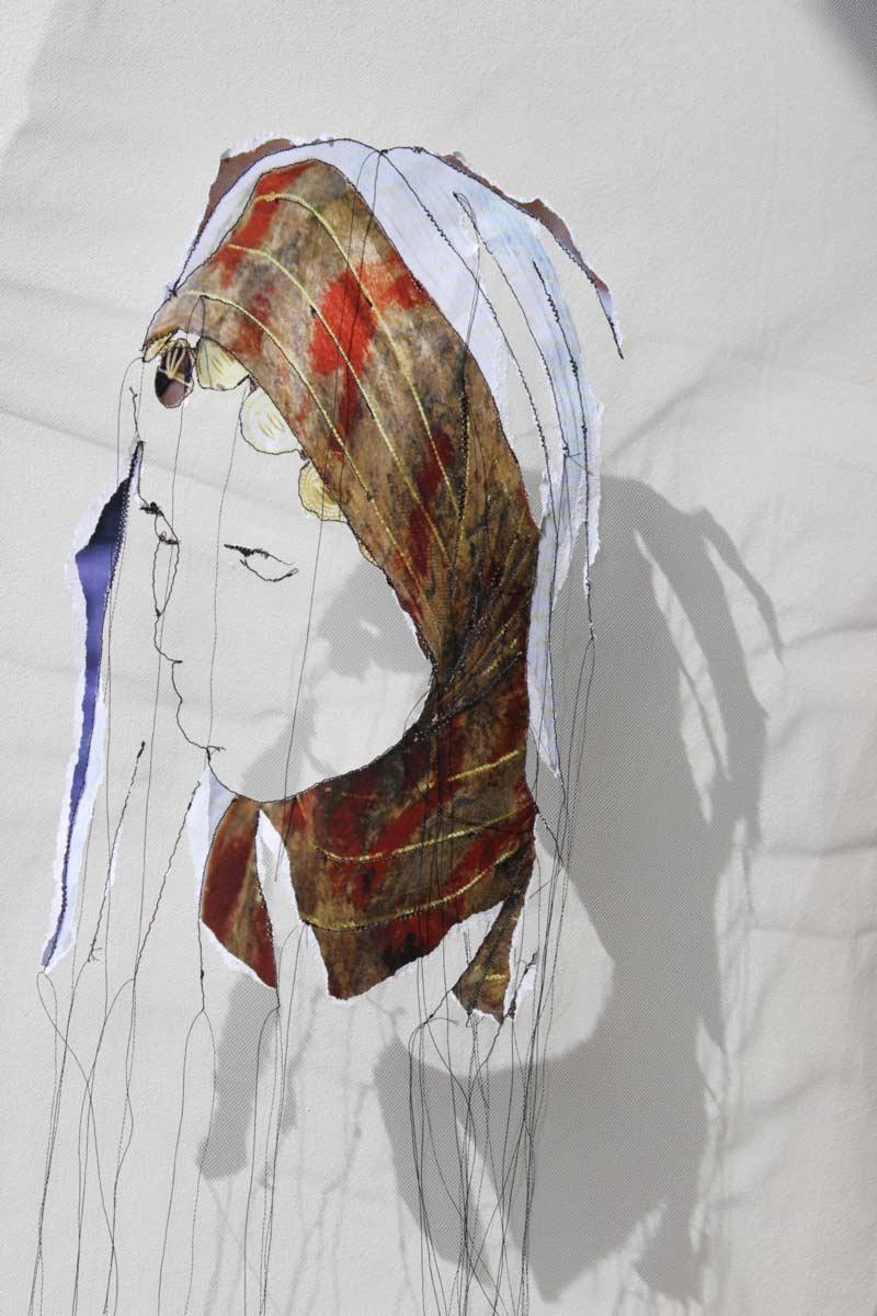 Miriam L'Herminez | diversiteit #19 | mixed media | 50x40