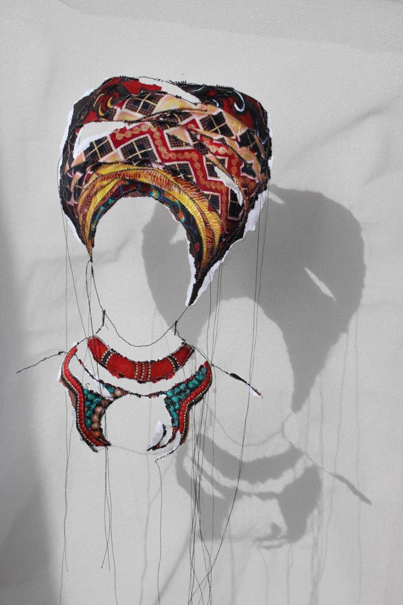 Miriam L'Herminez | diversiteit #21 | mixed media | 50x40