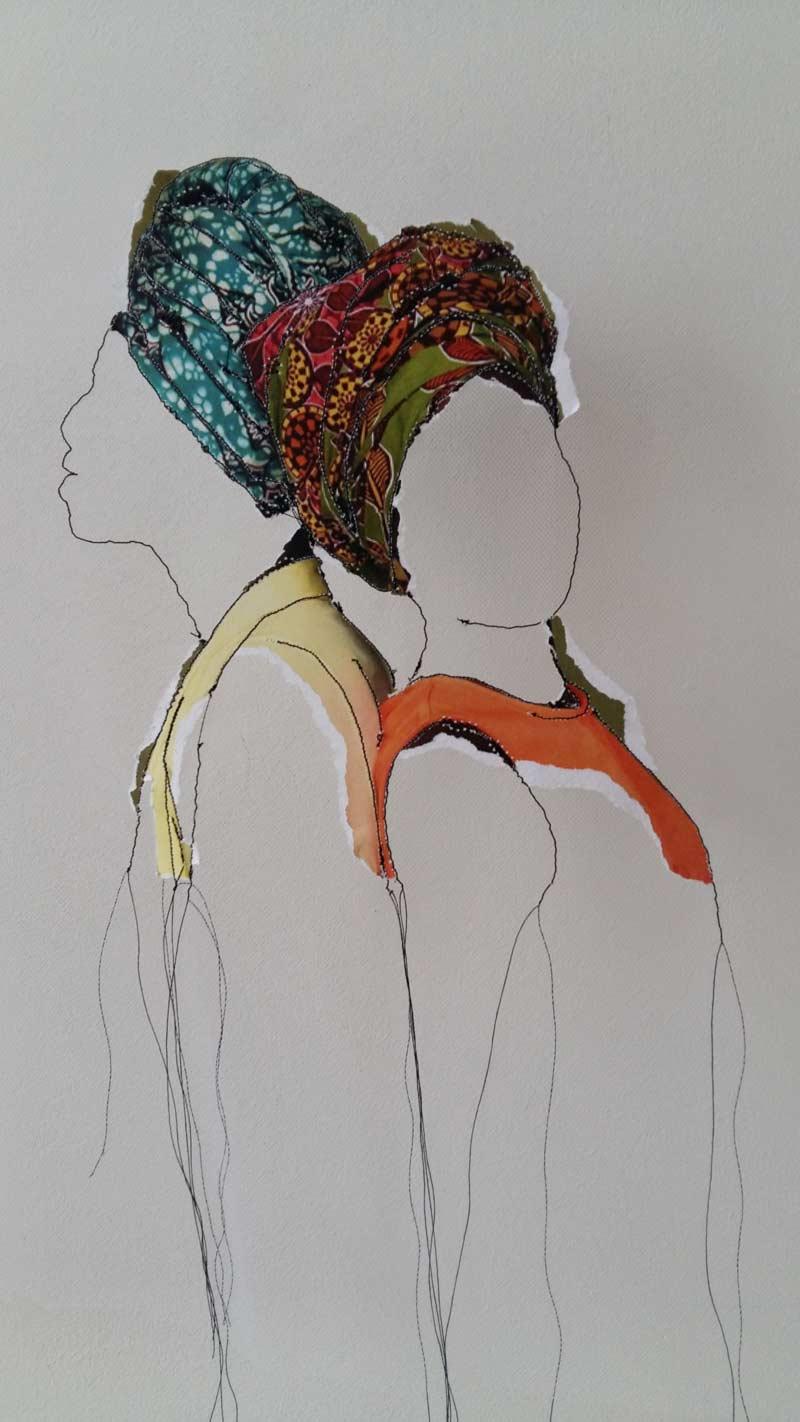 Miriam L'Herminez | diversiteit #26 | mixed media | 50x40