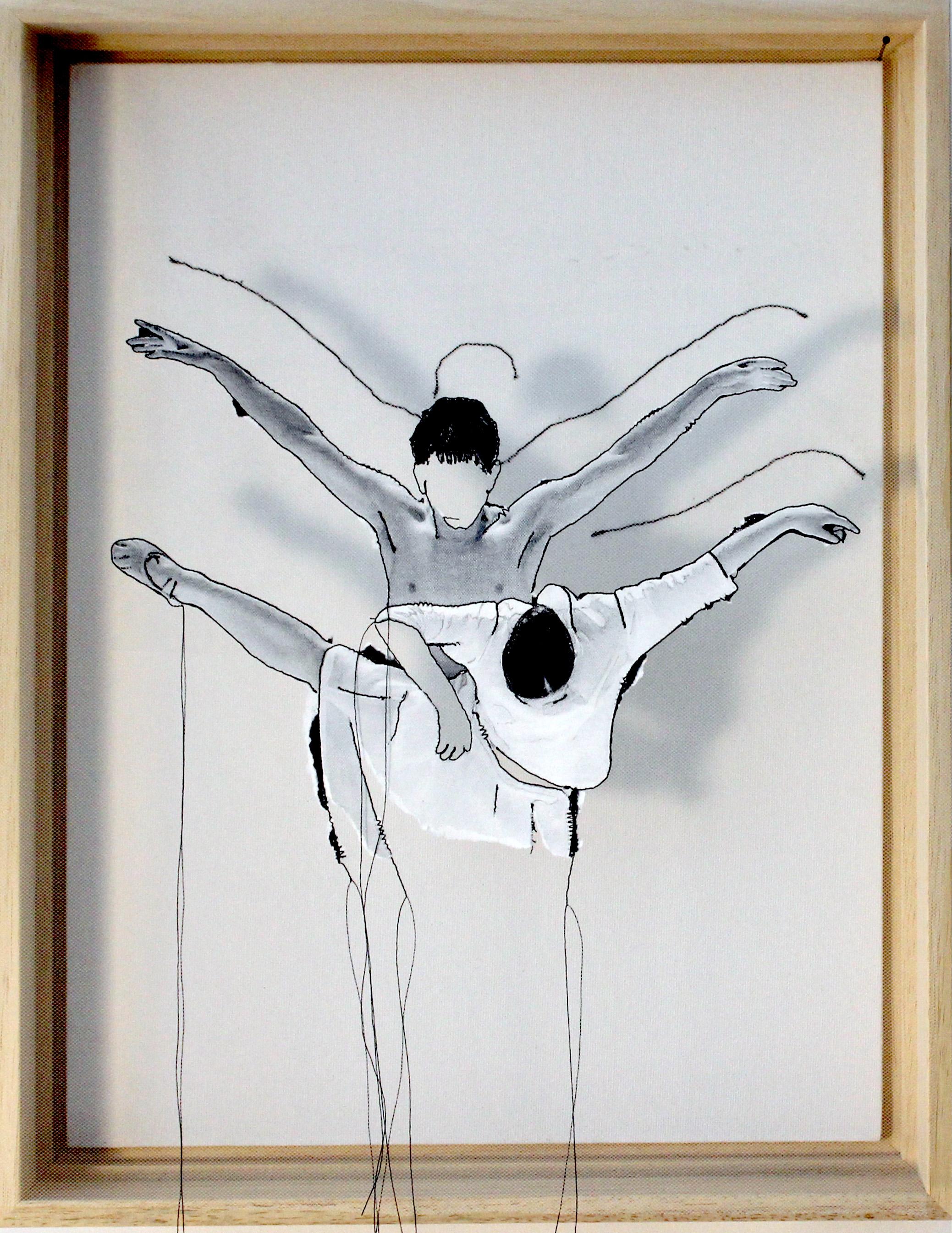Miriam L'Herminez | musical moves 3 | mixed media | 40x30