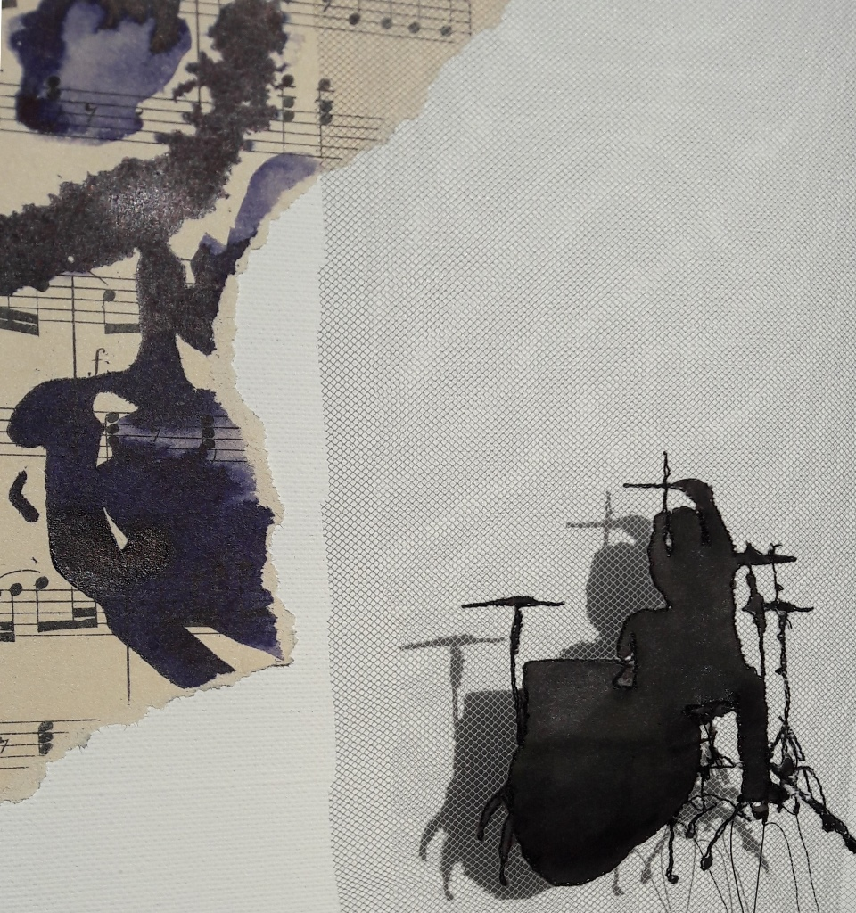 Miriam L'Herminez | music #12 | mixed media | 20x20