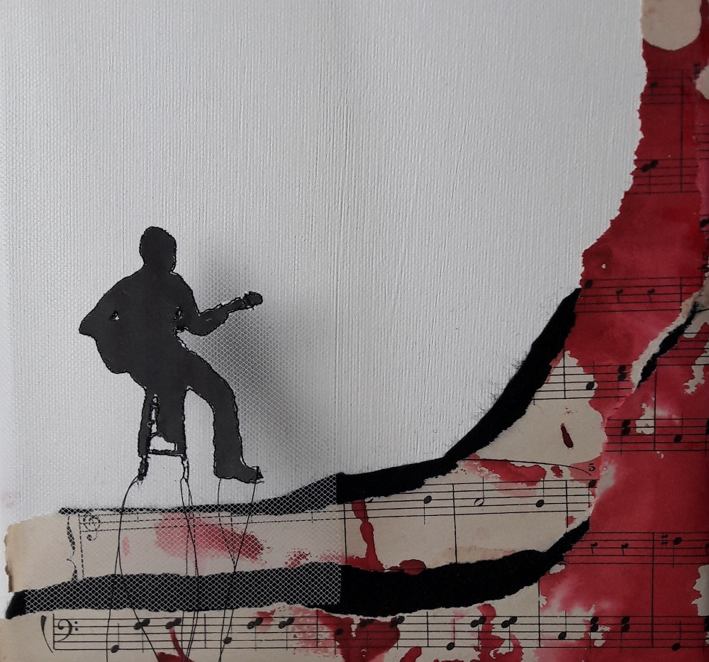 Miriam L'Herminez | music 2 | mixed media | 20x20