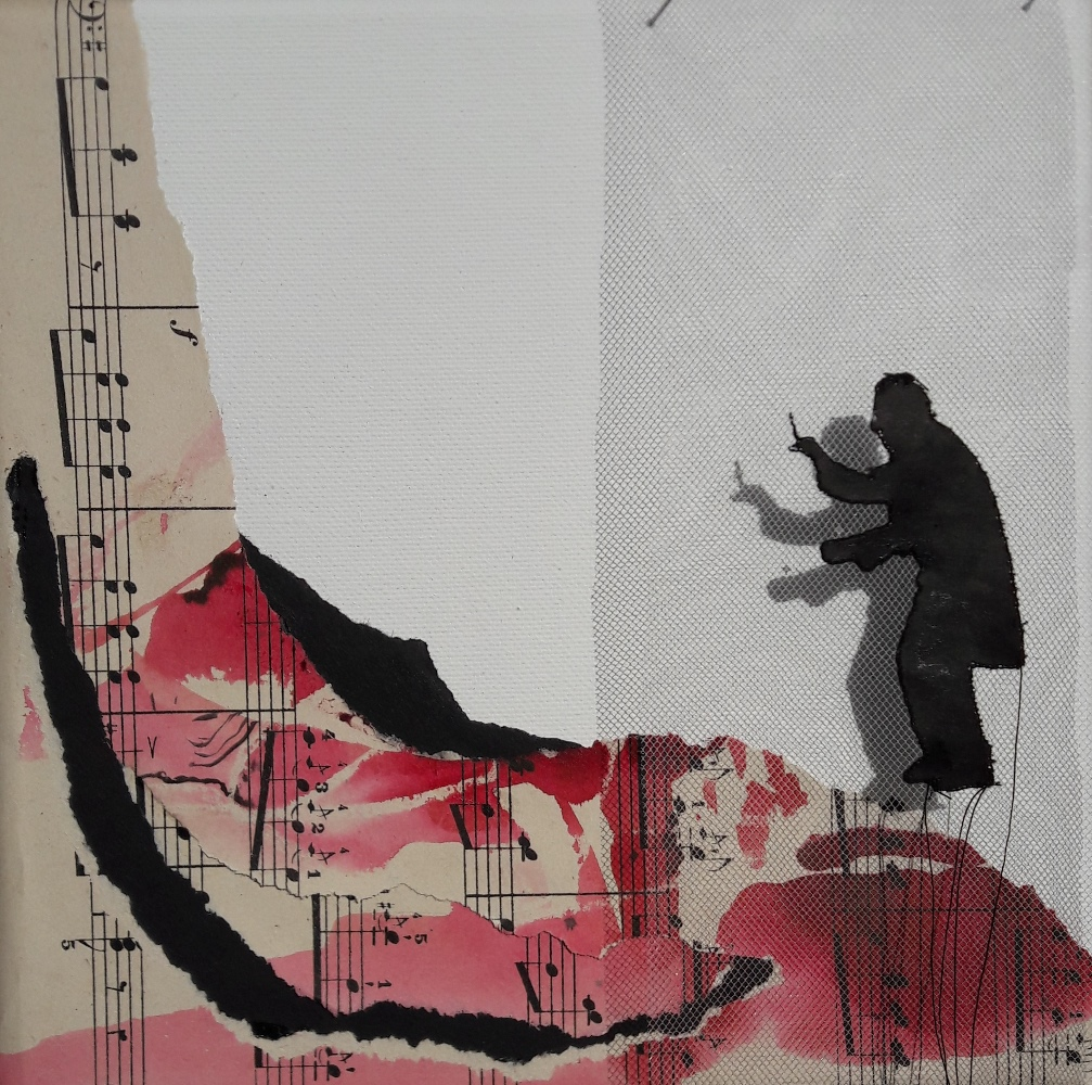 Miriam L'Herminez | music #5 | mixed media | 20x20
