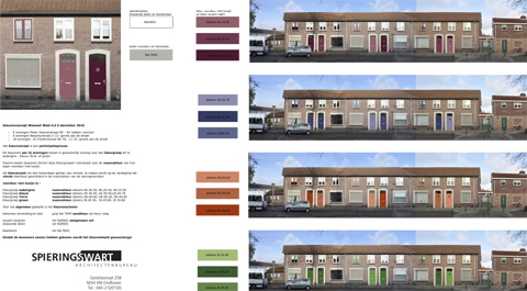 Bewoners Woensel West kiezen kleurconcept Spierings&Swart Architectenbureau