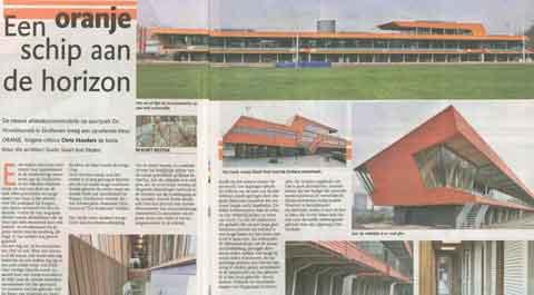 In ED architectuurrecensie Chris Manders van nieuwbouw atletiek accommodatie