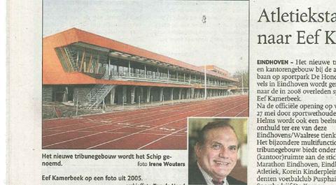 Atletiekstadion vernoemd naar Eef Kamerbeek