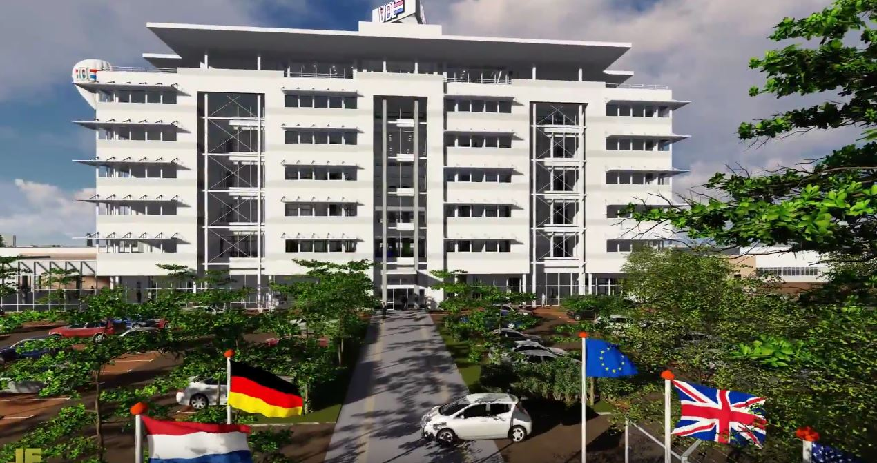 Impressie uitbreiding hoofdkantoor VDL