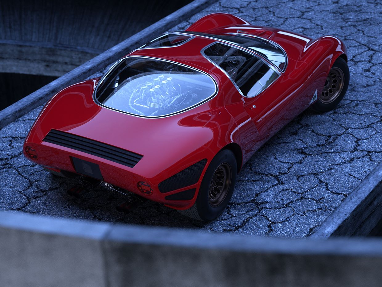 Alfa-Romeo-33-Stradale-1995-CC-V8-700-Kg-230-HP-8800-RPM