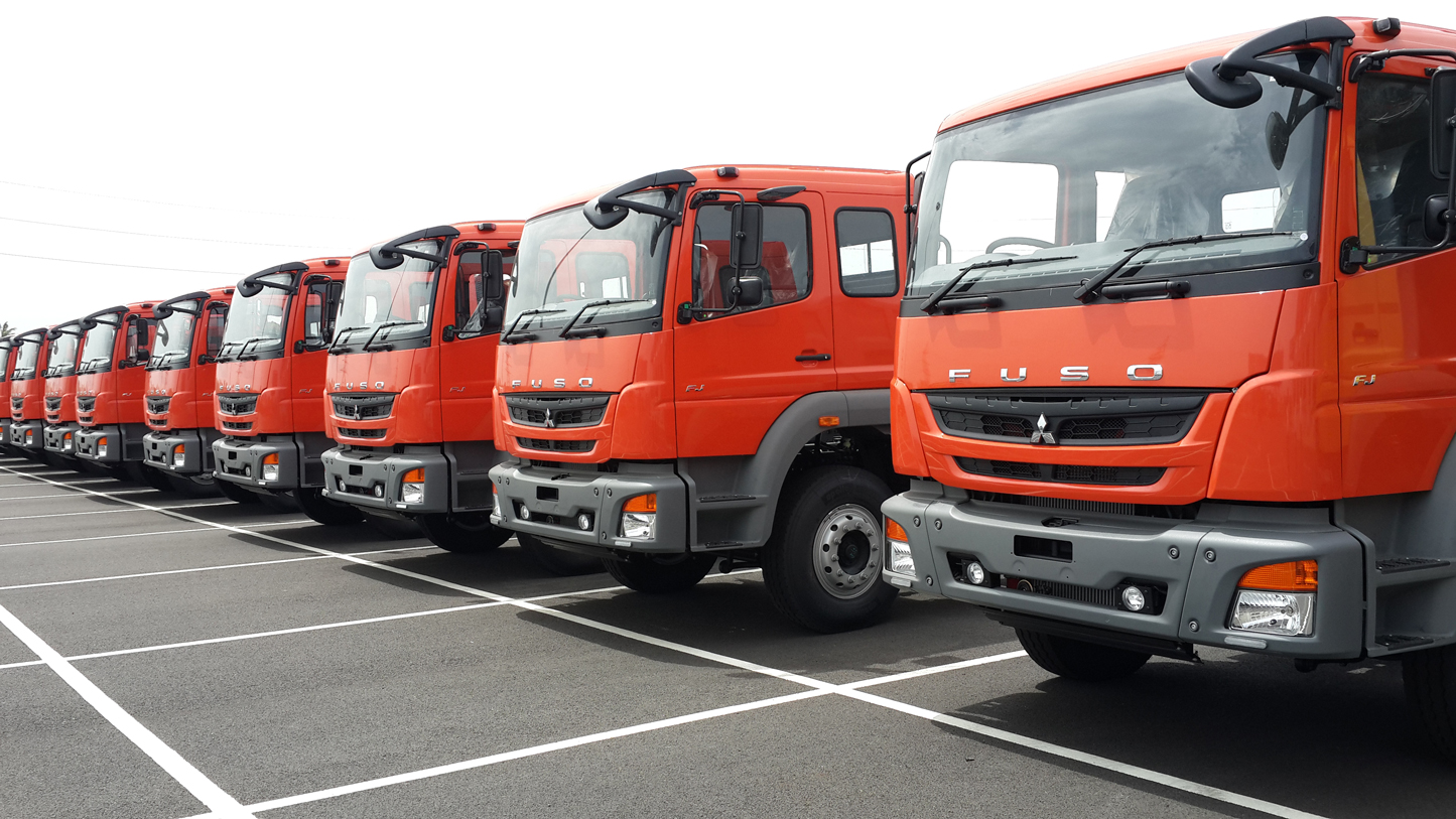 India-made-Mitsubishi-FUSO-trucks-exported-to-Indonesia