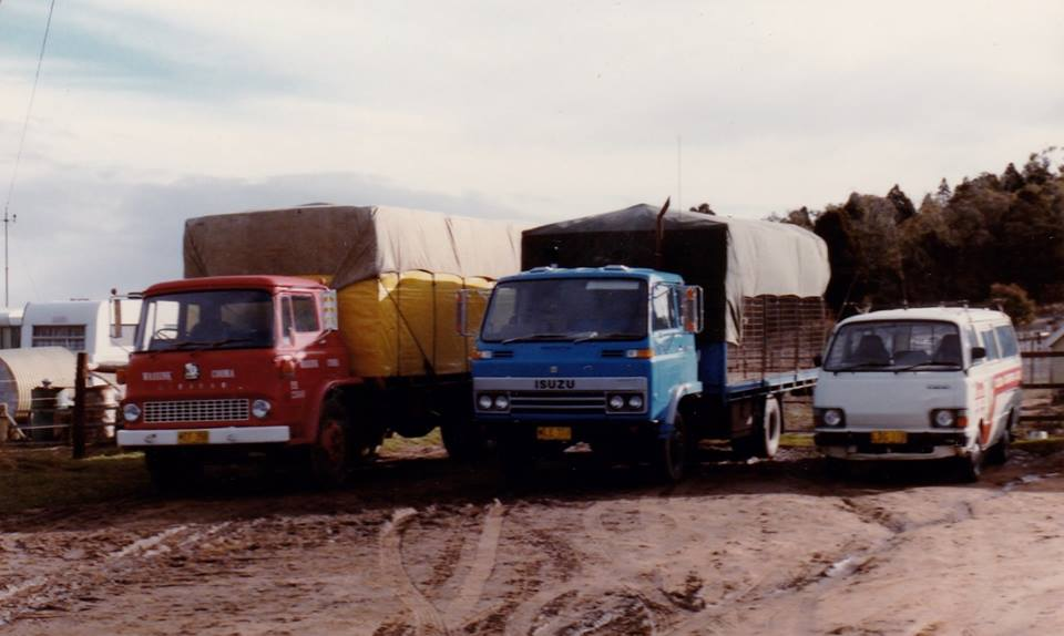 Our-first-truck--Left-and-the-blue-Isuzu---Van--the-beginning-of-the-Coom-a--Canberra-connection