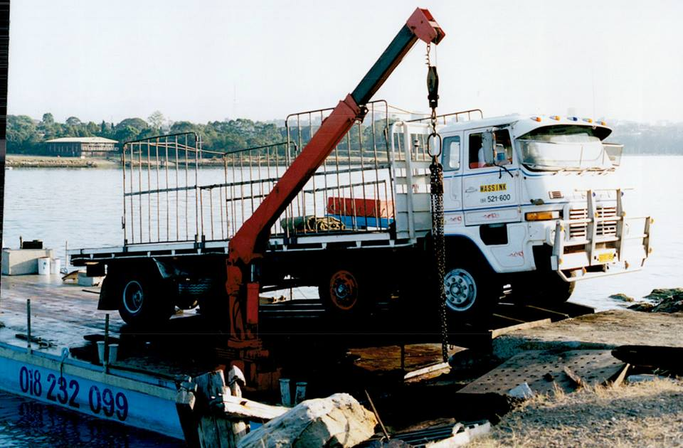 The-Isuzu-twin-steer-on-the-ferry-to-Cockatoo-Island--Sydney--Patrick-Wassink-was-driving-this-truck