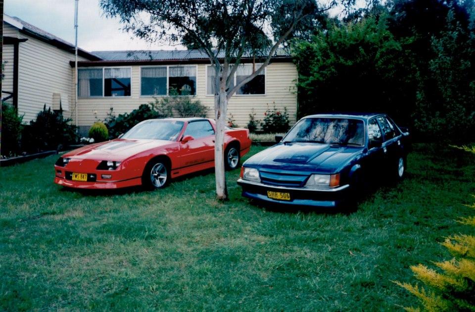 22--Wim-car--Chev-Camaro-and-Patrick--car-Holden-commodore-both-V8