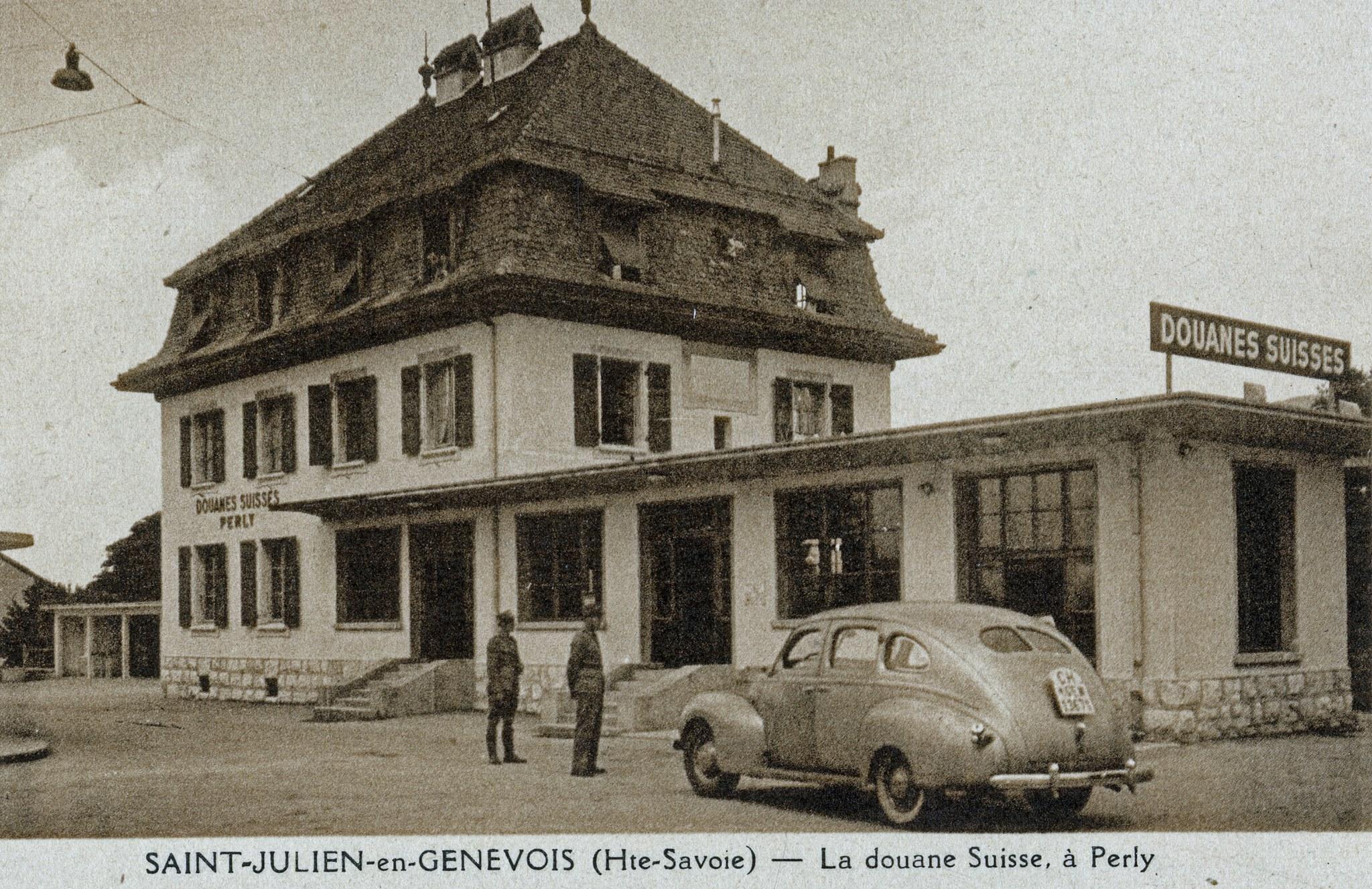 Saint-Julian-en-Genevois---Perly--Certoux-oude-grens