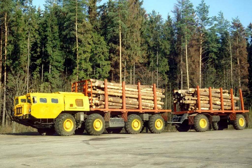 MAZ-8x8-Logging-Truck