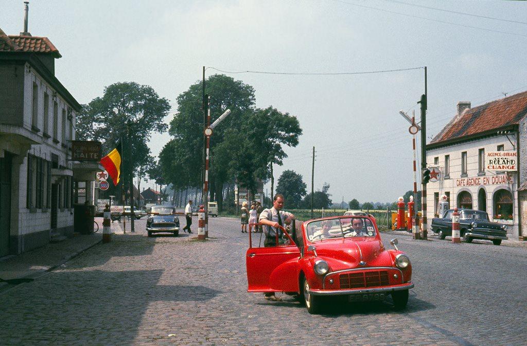 1963-Grenzubergang-Deutschland-Belgien--Eupen