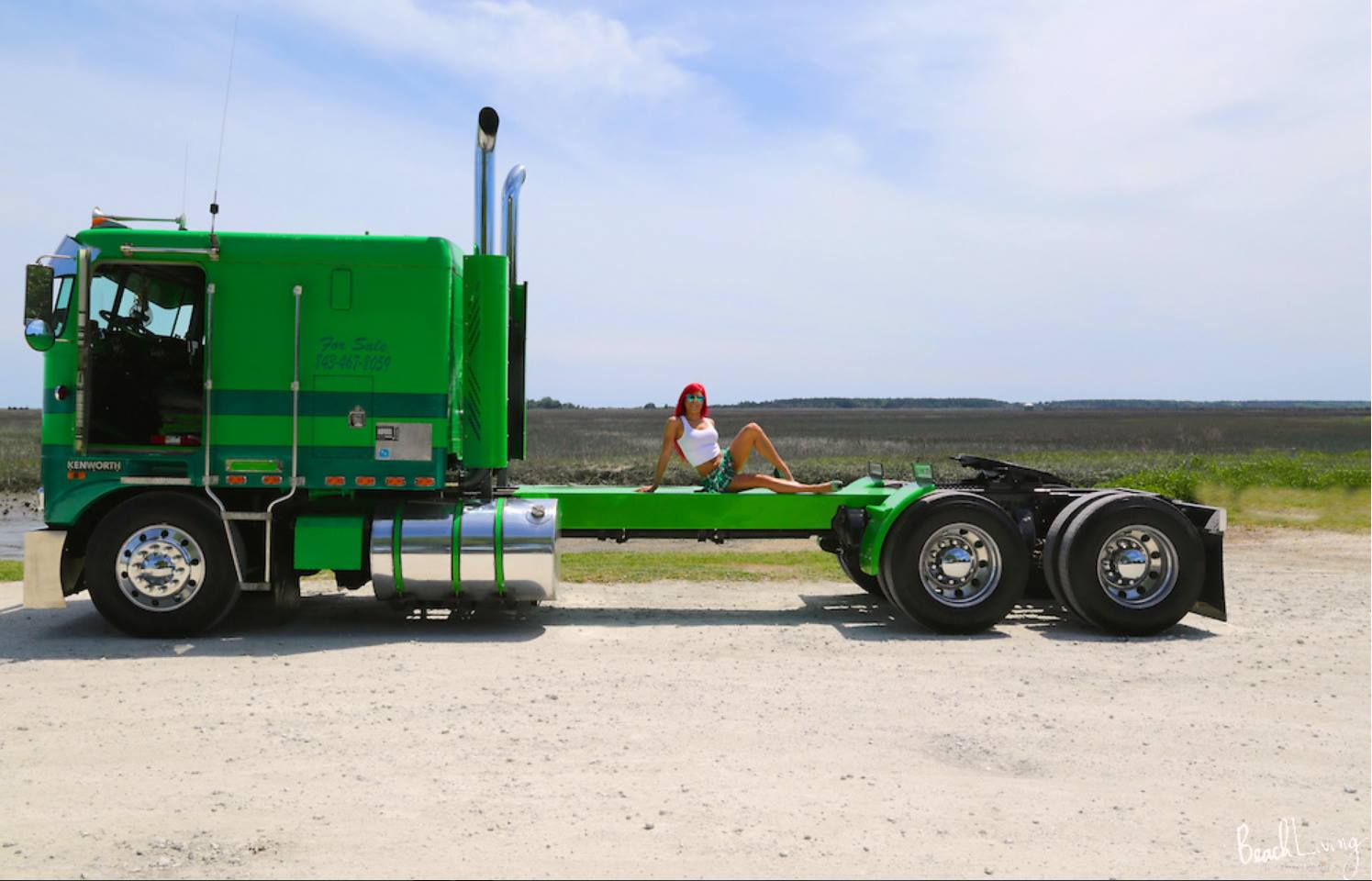 Hot-and-sexy-Whitney-Rose-Stevens-on-a-custom-Kenworth-Truck-Whitney-Rose-Stevens-models-for-2