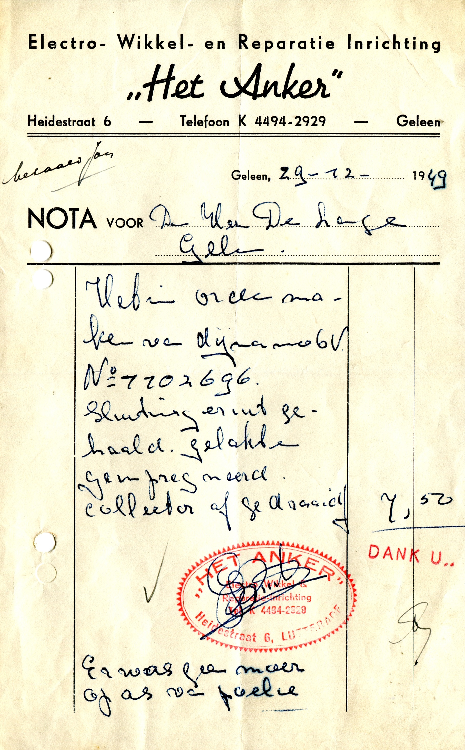 1949-Dynamo-controle