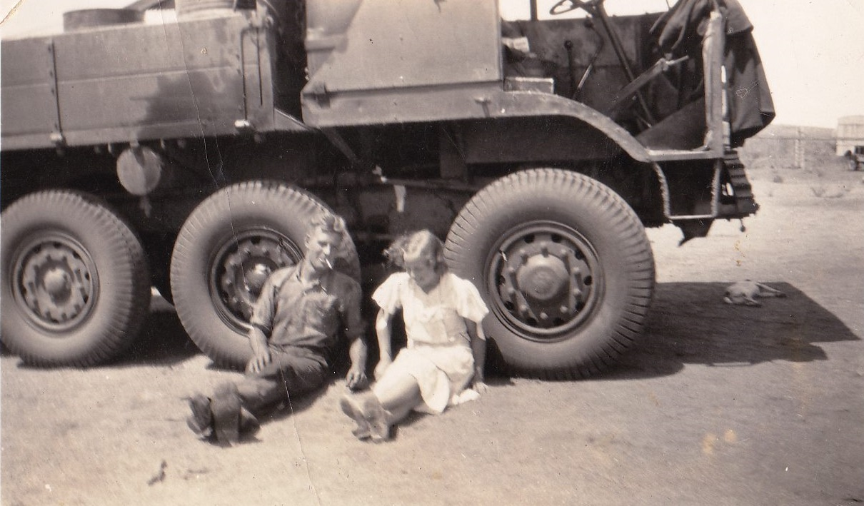 AEC-8-Wheeler-one-of-3-ever-built-with-Hugh-Clough-and-Joyce-Michell-nee-Branson-somewhere-in-the-Territory