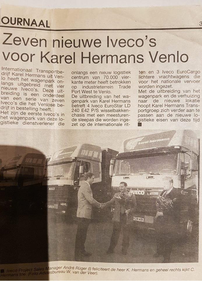 Pascal-Coppers--ik-bewaar-krant-over-eerste-7-Nieuwe-Iveco-s-voor-Karel-Hermans-Venlo.