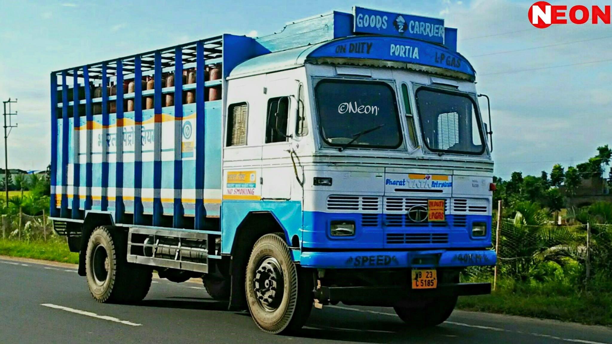 BHARAT-PETROLEUM-owned-Tata-1613c---west-bengal-india-