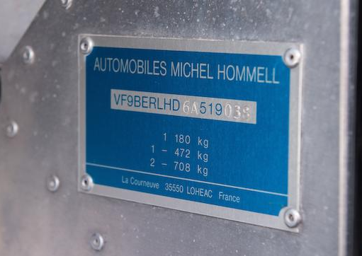 1999-Hommel-Valillant-Grand-Defi-Coupe-Chassis-nr-VF9BerlHD6A519038-(5)