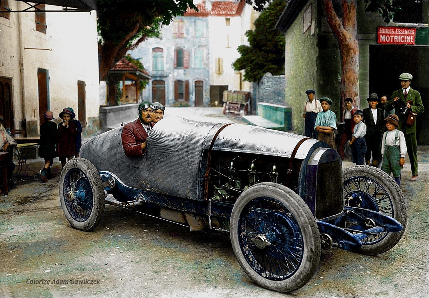 Race-de-C-ote-du-Mont-Ventoux-René-Thomas-op-Auto-Delage--Bedoin-1922