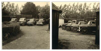 Tettero-Onze-oude-garage-aan-de-Rotterdamseweg-hoek-Ackerdijk-op-een-boerderij-van-mijn-oom-in-Delft.-Denk-zo-1961
