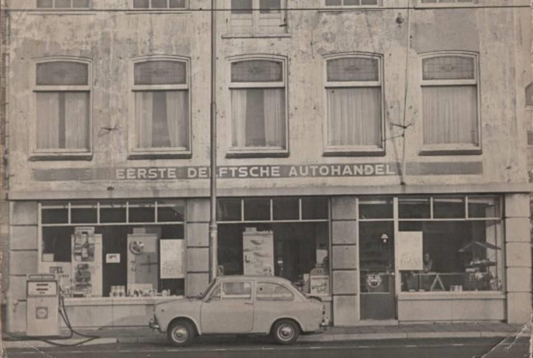 EDA-Delft-Opel-Chevrolet-Oldsmobiel-dealer-Shell-pomp-Phoenixstraat