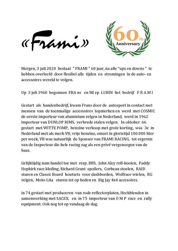 FRAMI--60-jaar