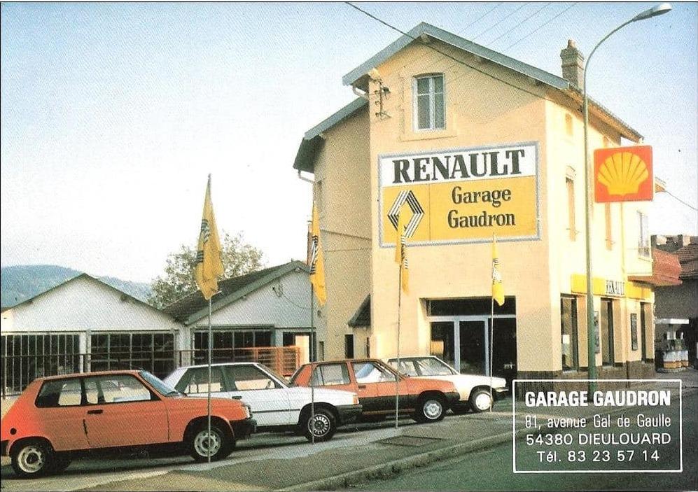 Renault-Garage-Gaudron-in-het-Franse-Stadje-Dieulouard--54--rond-1987