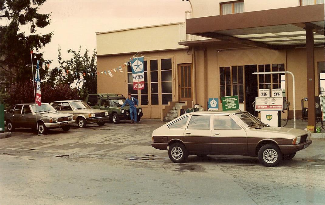 Simca-Garage-in-het-Franse-Stadje-Soultz-Haut-Rhin-rond-1979