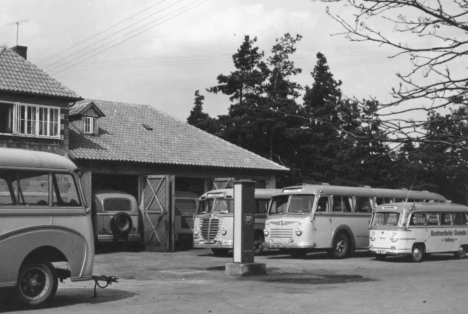 1953-Fassberg-Niedersachsen-Firma-Kraftverkehr-Grande
